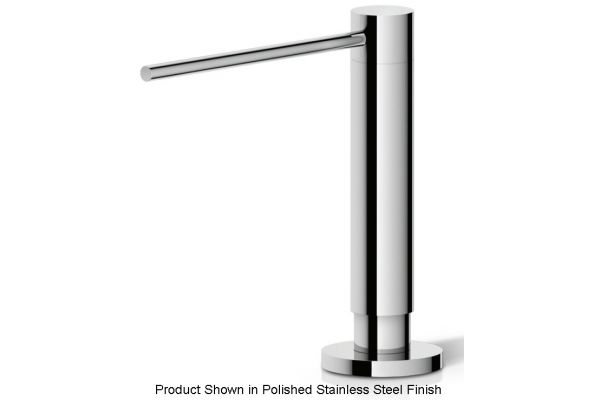 Large image of The Galley Gun Metal Gray Stainless Steel Soap Dispenser - ISD-1-GSS