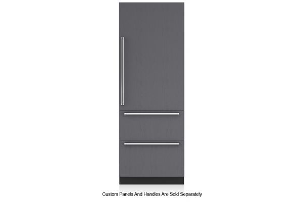 """Large image of Sub-Zero 30"""" Panel Ready Right-Hinge Designer Over-And-Under Refrigerator/Freezer With Ice Maker And Internal Dispenser - IT-30CIID-RH"""