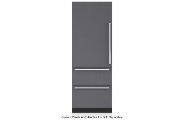 """Large image of Sub-Zero 30"""" Panel Ready Left-Hinge Designer Over-And-Under Refrigerator/Freezer - IT-30CI-LH"""