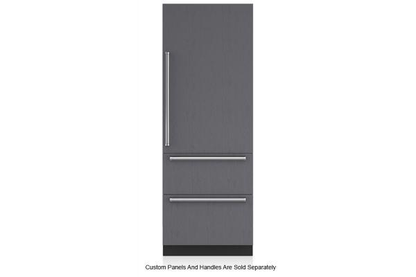 """Large image of Sub-Zero 30"""" Panel Ready Right-Hinge Designer Over-And-Under Refrigerator/Freezer - IT-30CI-RH"""