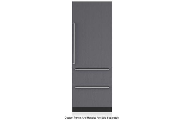 "Large image of Sub-Zero 30"" Panel Ready Right-Hinge Designer Over-And-Under Freezer With Ice Maker - IT-30FI-RH"