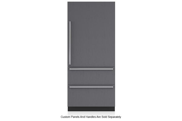"Large image of Sub-Zero 36"" Panel Ready Right-Hinge Designer Over-And-Under Refrigerator/Freezer With Internal Dispenser And Ice Maker - IT-36CIID-RH"