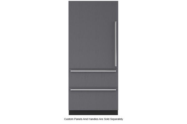"Large image of Sub-Zero 36"" Panel Ready Left-Hinge Designer Over-And-Under Refrigerator/Freezer With Ice Maker - IT-36CI-LH"