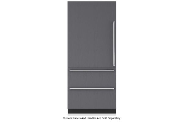 """Large image of Sub-Zero 36"""" Panel Ready Left-Hinge Designer Over-And-Under Refrigerator With Internal Dispenser - IT-36RID-LH"""