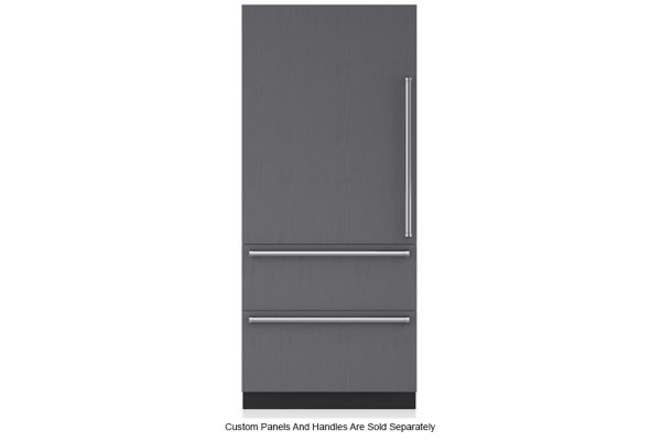 "Large image of Sub-Zero 36"" Panel Ready Left-Hinge Designer Over-And-Under Refrigerator - IT-36R-LH"