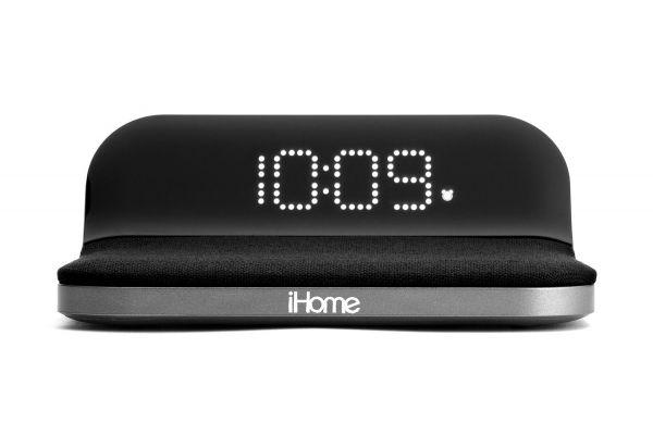 Large image of iHome Compact Alarm Clock w/ Qi Wireless & USB Charging - IW18