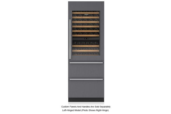 "Large image of Sub-Zero 30"" Panel Ready Integrated Left Hinge Wine Refrigerator With Drawers - IW30RLH"