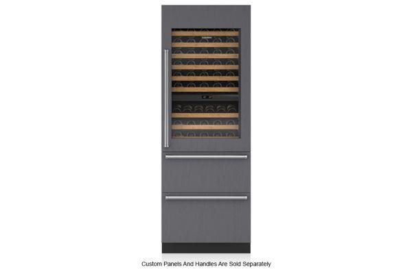 "Large image of Sub-Zero 30"" Panel Ready Integrated Right Hinge Wine Refrigerator With Drawers - IW30RRH"