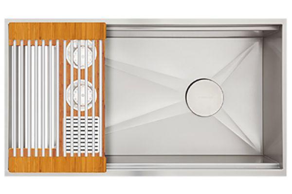 Large image of The Galley Golden Bamboo Ideal Washstation 3S Single Bowl Sink Kit - IWA-3S-BA