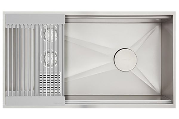 Large image of The Galley Grey Resin Ideal Washstation 3S Single Bowl Sink Kit - IWA-3S-GR
