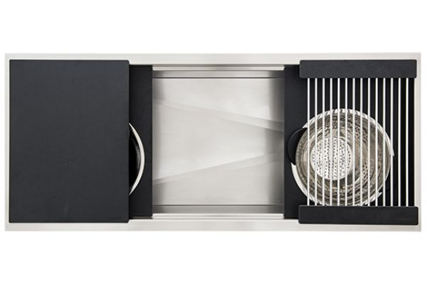 """The Galley 48"""" Graphite Ideal Workstation 4 Single Bowl Sink Kit - IWS-4-S-GT"""