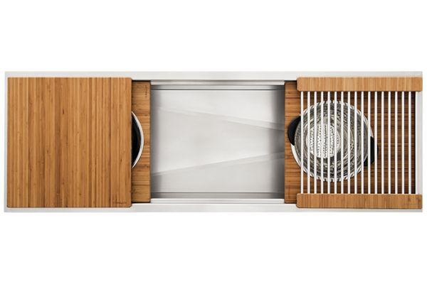 """Large image of The Galley 60"""" Bamboo Ideal Workstation 5 Single Bowl Sink Kit - IWS-5-S-BA"""