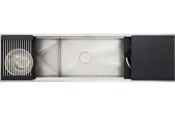 """Large image of The Galley 72"""" Graphite Ideal Workstation 6 Double Bowl Sink Kit - IWS-6-D-GT"""