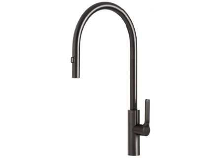 The Galley Tap Black Satin Stainless Steel Pull-Down Kitchen Faucet - IWT D BSS