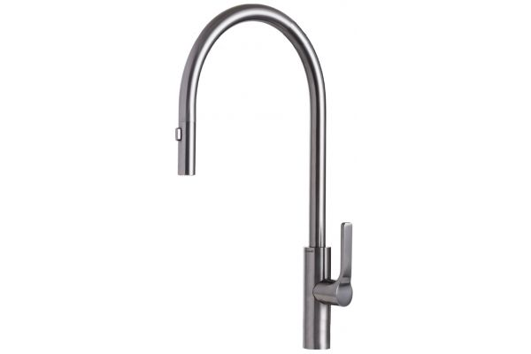 Large image of The Galley Tap Gun Metal Gray Stainless Steel Kitchen Faucet - IWT-D-GSS