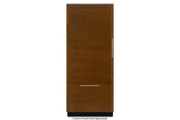 "Large image of JennAir 36"" Panel Ready Left-Hinge Built-In Bottom-Freezer Refrigerator - JB36NXFXLE"