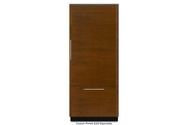 """JennAir 36"""" Built-In Panel Ready Bottom-Freezer Obsidian Interior Refrigerator - JB36NXFXRE"""