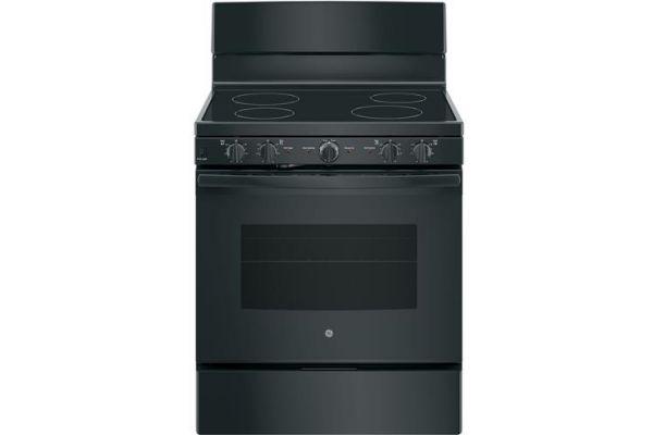 "Large image of GE 30"" Black Freestanding Electric Range - JB480DMBB"