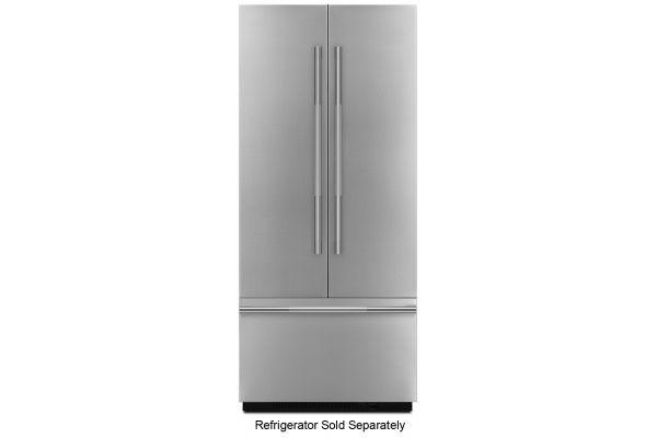 "JennAir RISE 36"" Fully Integrated Stainless Steel Built-In French Door Refrigerator Panel Kit - JBFFS36NHL"