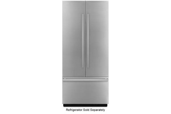 "Large image of JennAir NOIR 36"" Fully Integrated Stainless Steel Built-In French Door Refrigerator Panel Kit - JBFFS36NHM"