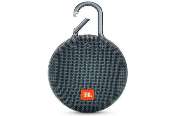 Large image of JBL Clip 3 Ocean Blue Portable Bluetooth Speaker - JBLCLIP3BLUAM