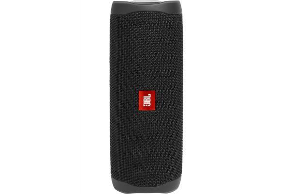 Large image of JBL Flip 5 Midnight Black Wireless Portable Waterproof Speaker - JBLFLIP5BLKAM