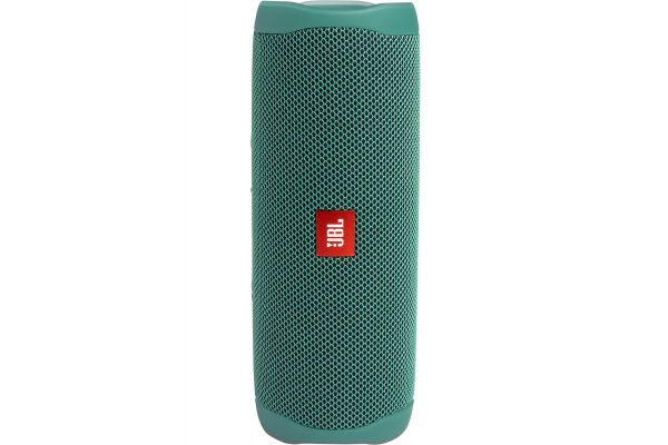 Large image of JBL Flip 5 Eco Edition Forest Green Wireless Portable Waterproof Speaker - JBLFLIP5ECOGRNAM