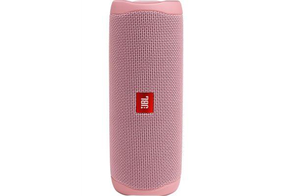 Large image of JBL Flip 5 Dusty Pink Wireless Portable Waterproof Speaker - JBLFLIP5PINKAM
