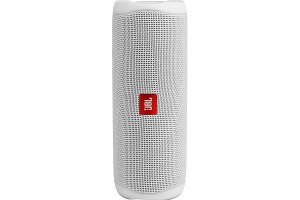 Large image of JBL Flip 5 Steel White Wireless Portable Waterproof Speaker - JBLFLIP5WHTAM