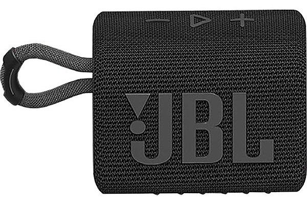 Large image of JBL GO 3 Black Portable Bluetooth Speaker - JBLGO3BLKAM