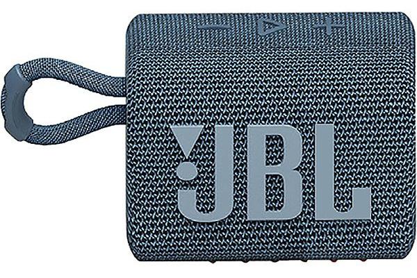 Large image of JBL GO 3 Blue Portable Bluetooth Speaker - JBLGO3BLUAM