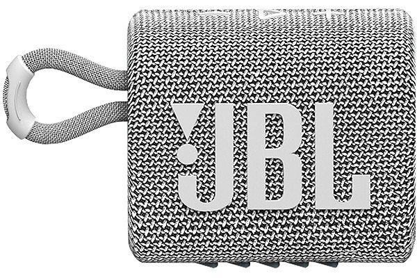 Large image of JBL GO 3 Gray Portable Bluetooth Speaker - JBLGO3GRYAM
