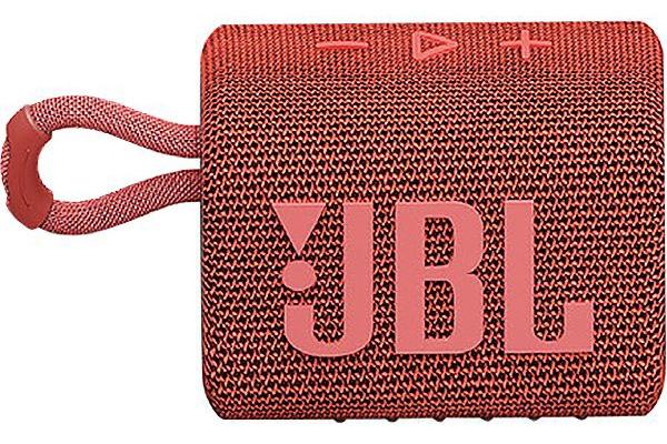 Large image of JBL GO 3 Red Portable Bluetooth Speaker - JBLGO3REDAM