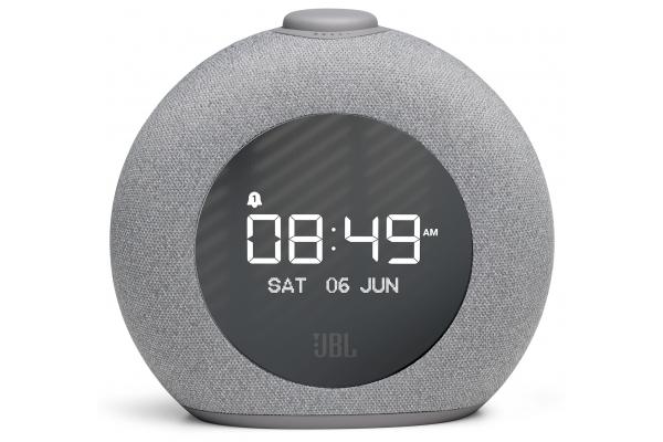 Large image of JBL Grey Horizon 2 Bluetooth Clock Radio Speaker With FM - JBLHORIZON2GRYAM