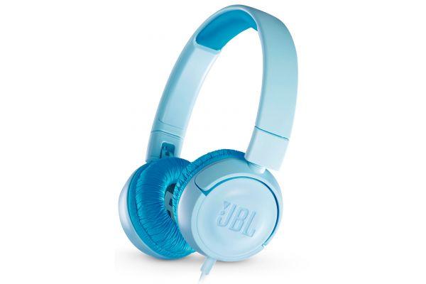 Large image of JBL JR300 Ice Blue Kids On-Ear Headphones - JBLJR300BLUUAM