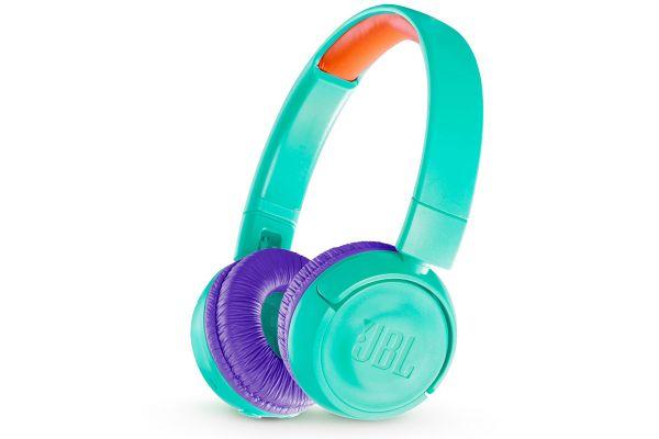 Large image of JBL JR300BT Teal Kids Wireless On-Ear Headphones - JBLJR300BTTELAM
