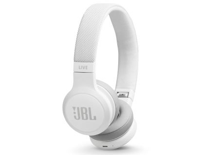 JBL LIVE 400BT White Wireless On-Ear Headphones - JBLLIVE400BTWHTAM