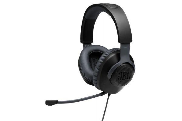 JBL Quantum 100 Black Wired Over-Ear Gaming Headset W/ Detatchable Mic - JBLQUANTUM100BLKAM
