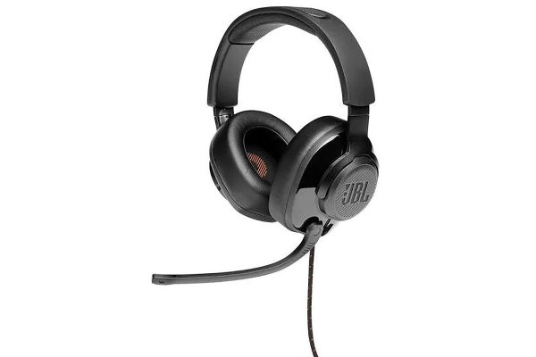 JBL Quantum 200 Black Wired-Over-Ear Gaming Headset W/ Flip-Up Mic - JBLQUANTUM200BLKAM