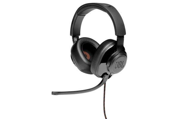 JBL Quantum 300 Black Hybrid Wired-Over-Ear Gaming Headset W/ Flip-Up Mic - JBLQUANTUM300BLKAM