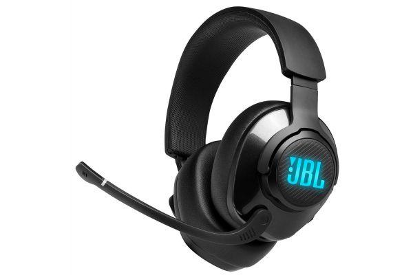 Large image of JBL Quantum 400 Black USB Over-Ear Gaming Headset W/ Game-Chat Dial - JBLQUANTUM400BLKAM