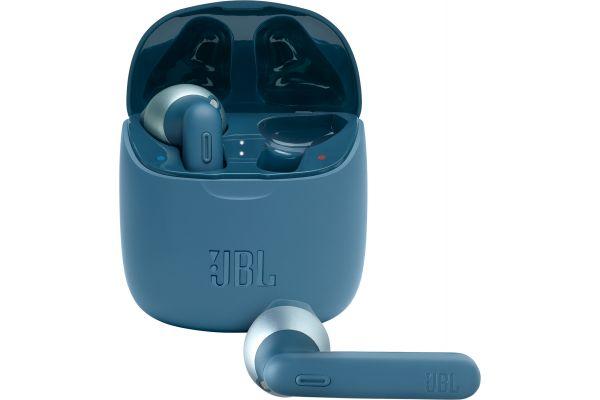 Large image of JBL TUNE 225TWS Blue Truly Wireless Earbud Headphones - JBLT225TWSBLUAM