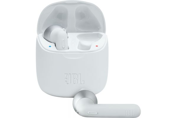 Large image of JBL TUNE 225TWS White Truly Wireless Earbud Headphones - JBLT225TWSWHTAM