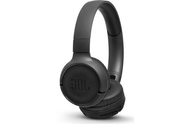 Large image of JBL TUNE 500BT Black Wireless On-Ear Headphones - JBLT500BTBLKAM
