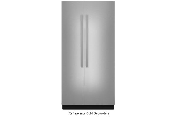 """Large image of JennAir NOIR 42"""" Fully Integrated Stainless Steel Built-In Side-By-Side Refrigerator Panel Kit - JBSFS42NHM"""
