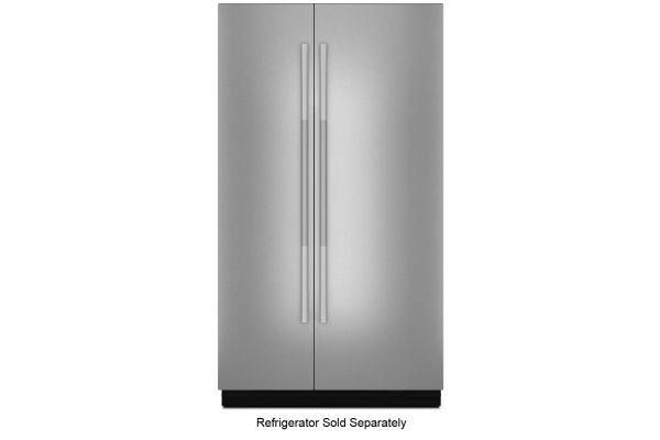 """Large image of JennAir RISE 48"""" Fully Integrated Stainless Steel Built-In Side-By-Side Refrigerator Panel Kit - JBSFS48NHL"""