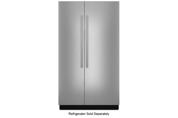 """Large image of JennAir NOIR 48"""" Fully Integrated Stainless Steel Built-In Side-By-Side Refrigerator Panel Kit - JBSFS48NHM"""