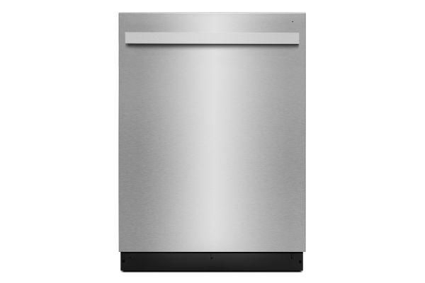 "Large image of JennAir NOIR 24"" TriFecta Stainless Steel Built-In Dishwasher - JDTSS246GM"