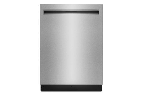 "Large image of JennAir 24"" Lustre Stainless Trifecta Pocket-Handle Dishwasher - JDTSS247HS"