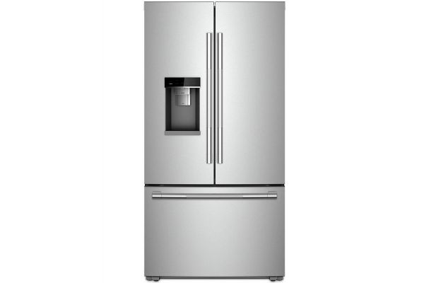 """Large image of JennAir RISE 72"""" Stainless Steel Counter Depth French Door Refrigerator - JFFCC72EHL"""